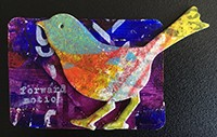 An example of my various bird artcard trades.