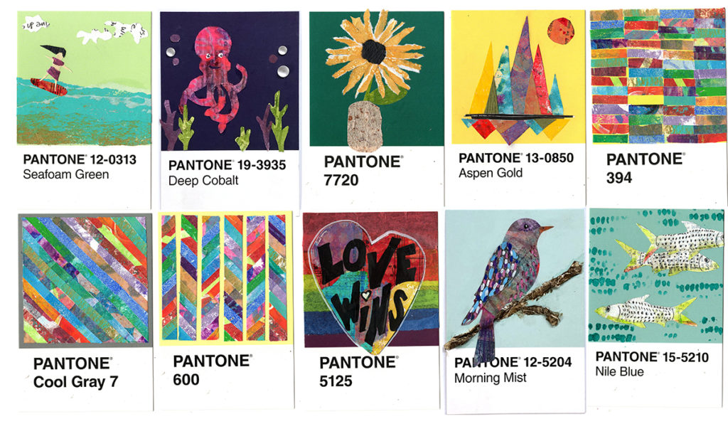 the 100 Day Project days 41-50 Postcards