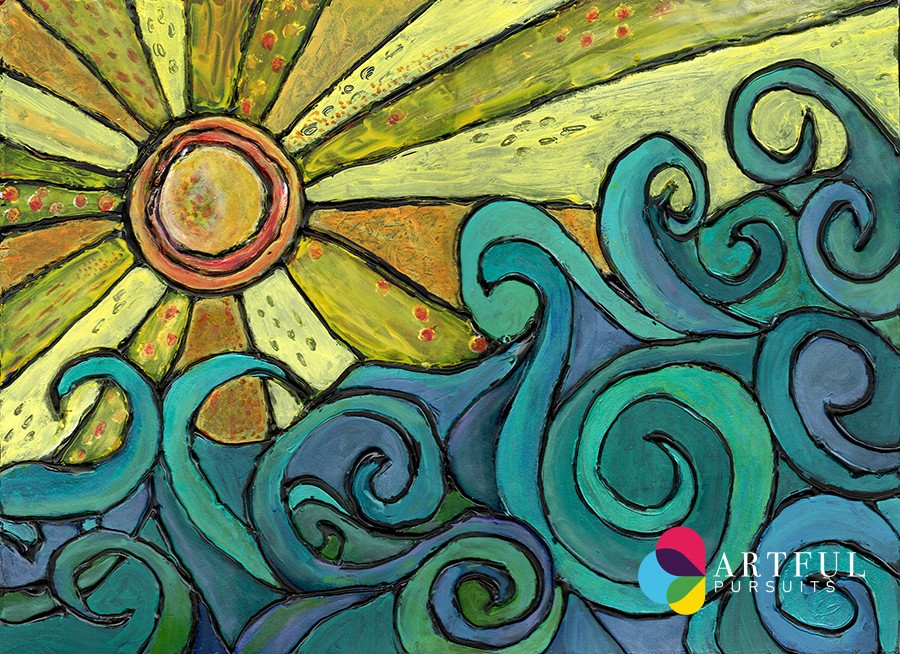 Summer Art Journal Page And Prompts Artful Pursuits