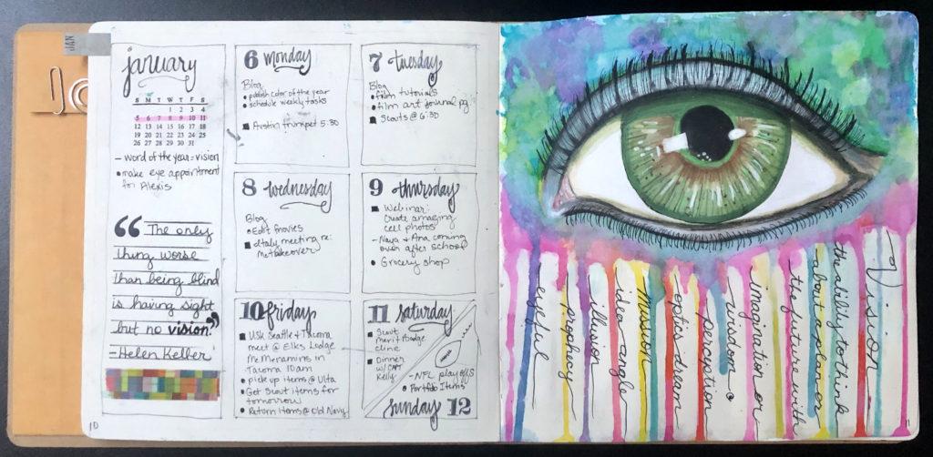 Sample bullet art journal page