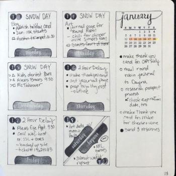 Weekly spread example