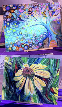art battle pre-show paintings