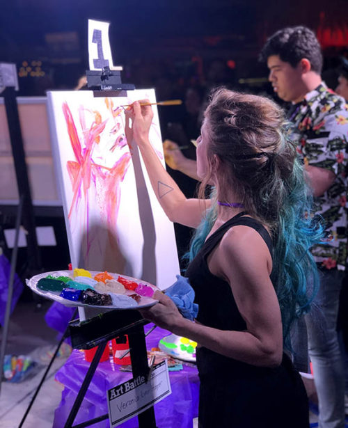 art battle contestant painting