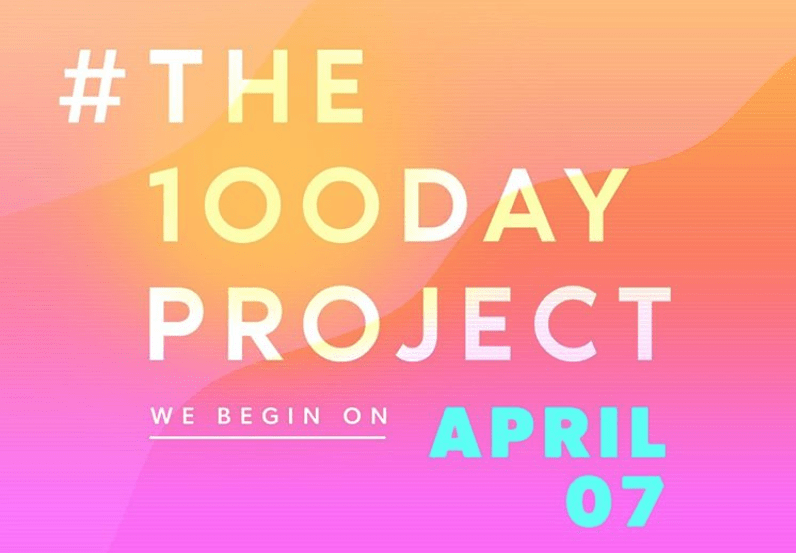 The 100 day project begins on april 7