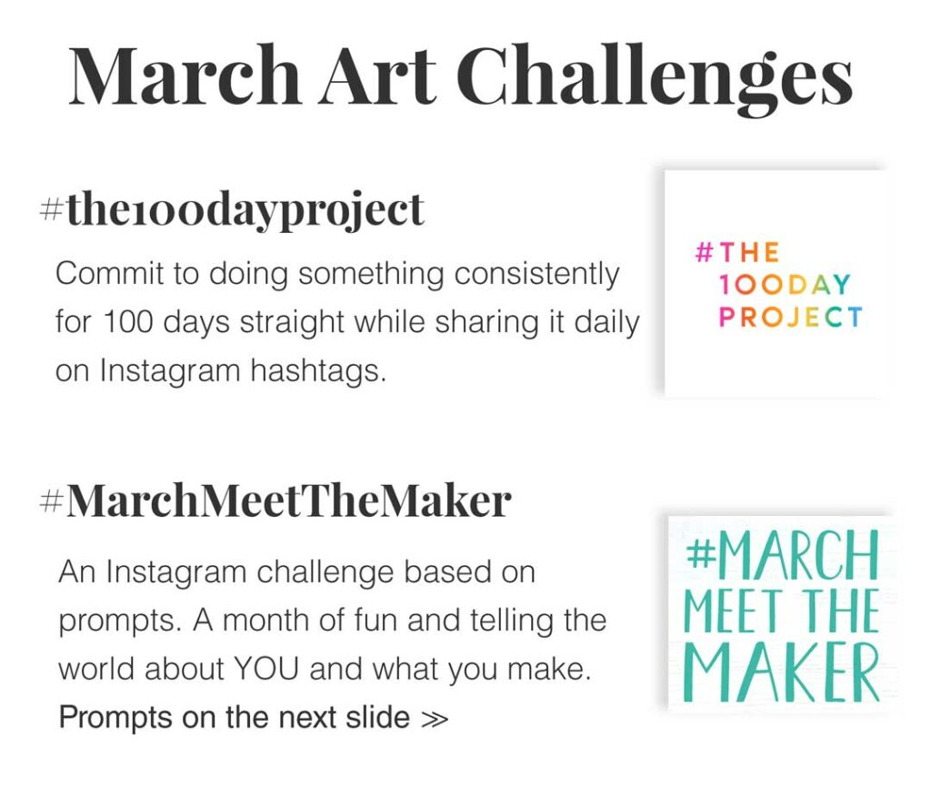 march art dates and challenges
