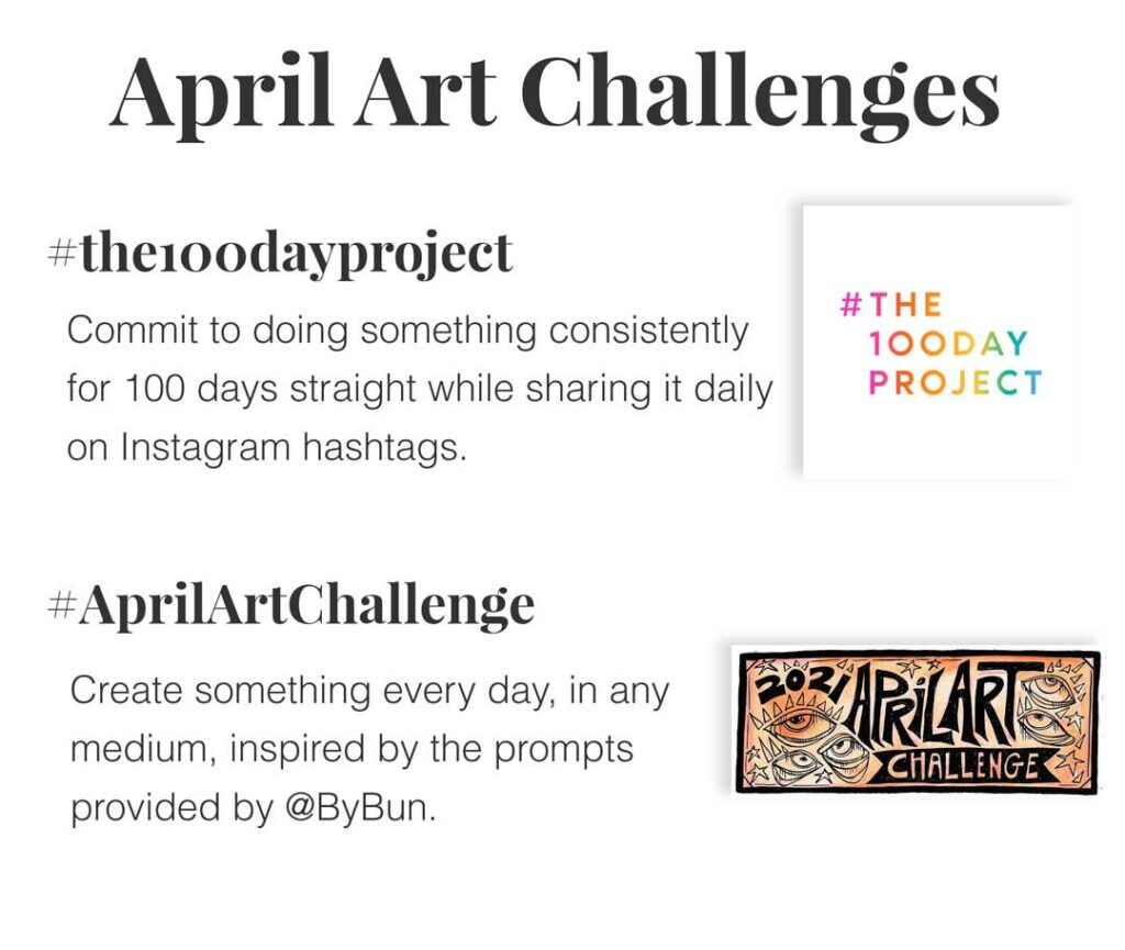 april art dates and challenges